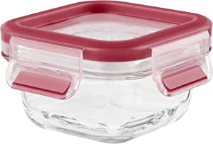 Emsa Clip & Close Glass Food Storage Container 0.2 L, Bread Box, Food Dispenser, 513917