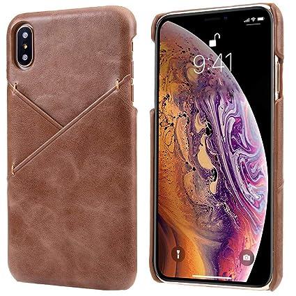 Amazon.com: Reginn - Funda de piel para iPhone X y iPhone XS ...