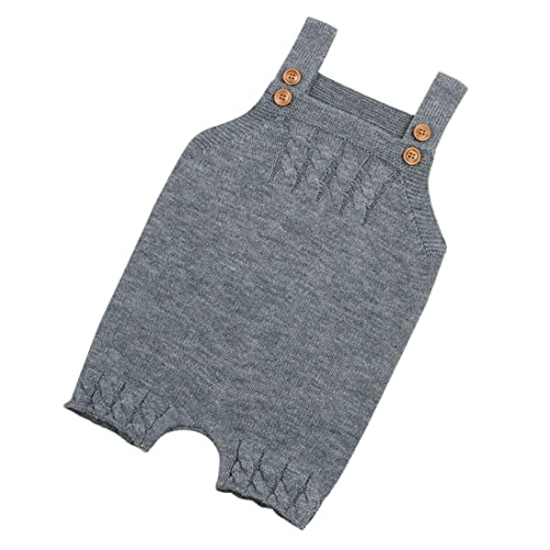 aa20676f17be Amazon.com  Voberry Newborn Baby Knit Overalls Toddler Boy Girl Knit ...