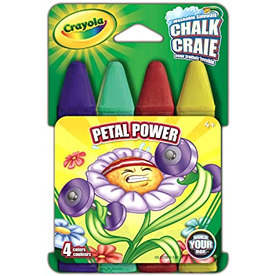Crayola Build Your Box Petal Power Chalk (4 Count): Toys & Games