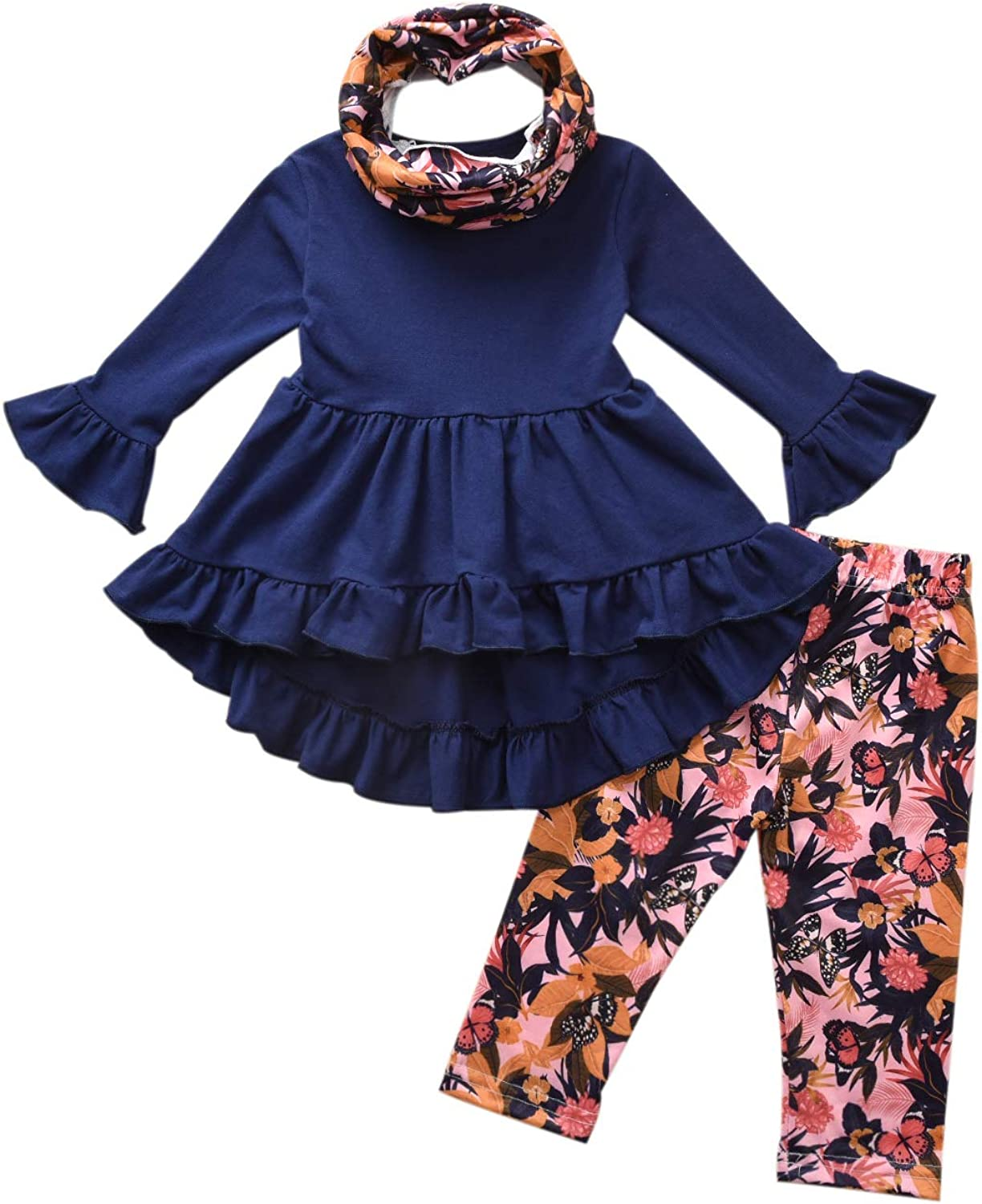 Fasouem Baby Girl Long Sleeve Top Shirt Suspender Bow Pants Set Little Toddler Valentines Day Outfits Set