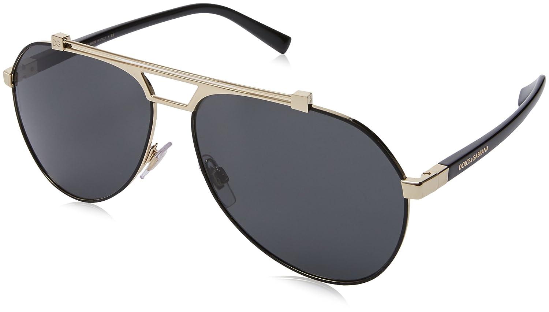 Dolce & Gabbana 0Dg2189 Gafas de sol Matte Black/Pale Gold 61 para Hombre