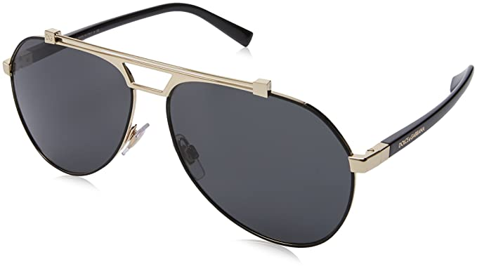 7dfd911a9c27 DOLCE & GABBANA Men's 0DG2189 01/87 61 Sunglasses, Matte Black/Pale Gold/Grey:  Amazon.co.uk: Clothing