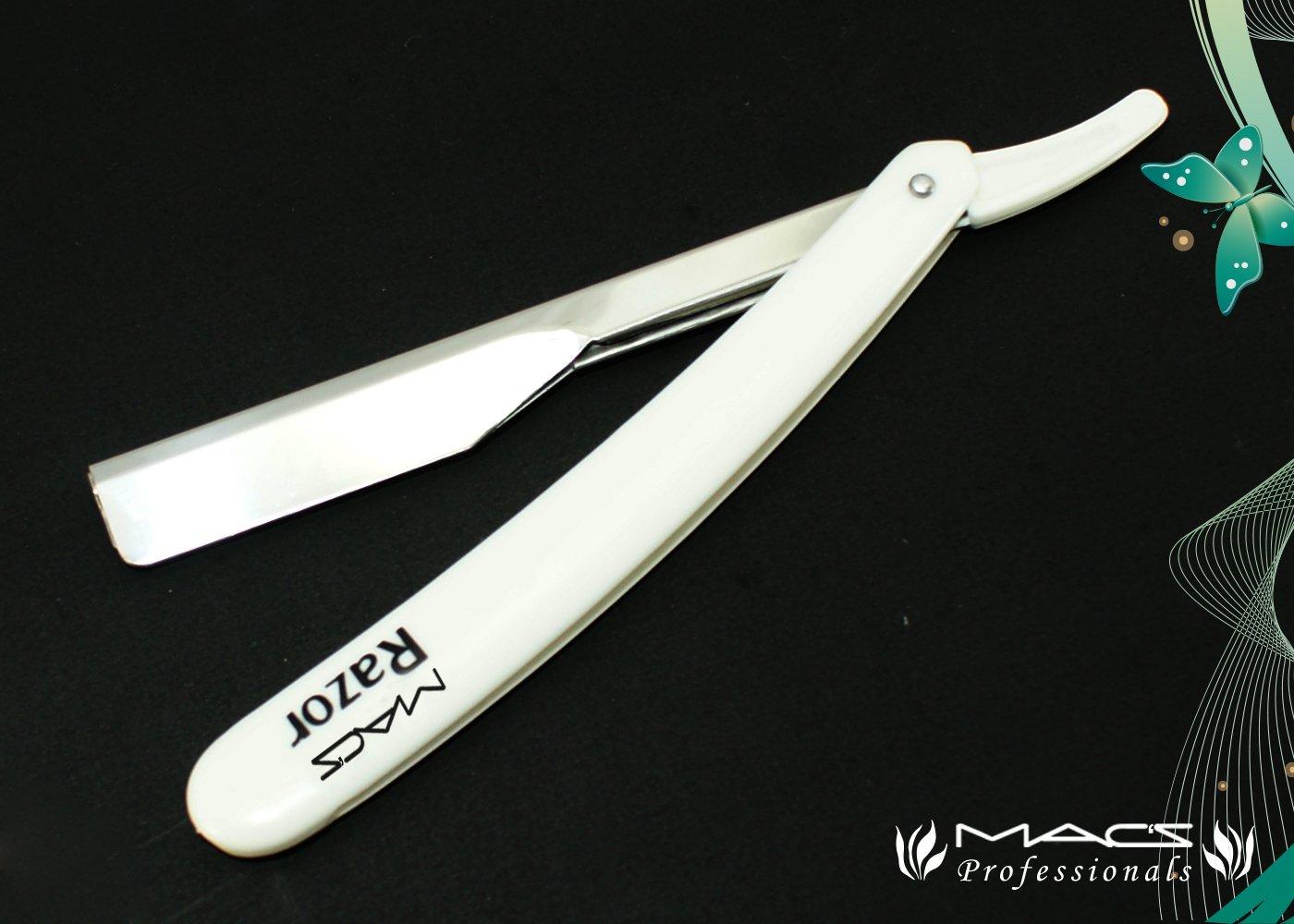 Professional Barber Straight Edge Half Blade Exchangeable Balde Barber Shaving Razors Macs Brand-50-01 (Black)