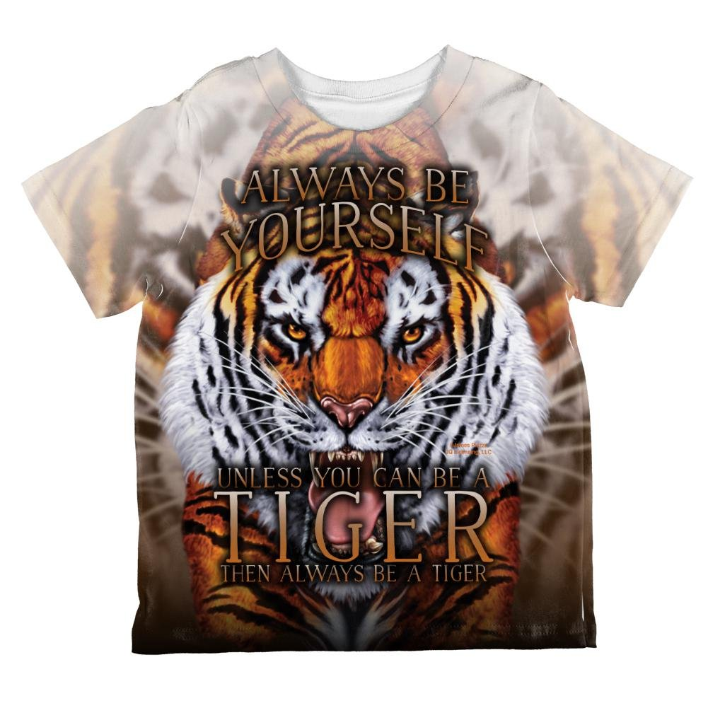 Always Be Yourself Unless Wild Tiger All Over Toddler T Shirt