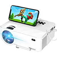 "Mini Projector, TOPVISION Projector with Synchronize Smart Phone Screen,1080P Supported, 176"" Display, 50,000 Hours Led, Compatible with Fire Stick,HDMI,VGA,USB,TV,Box,Laptop,DVD"