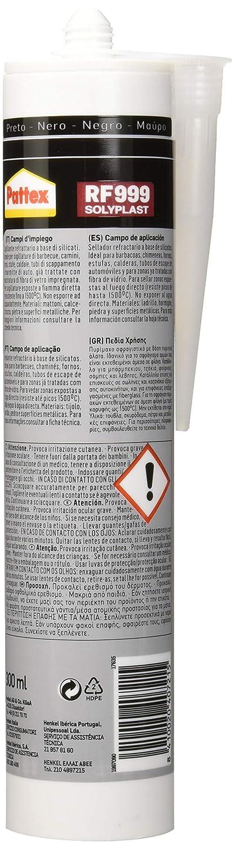 Pattex RF 999, Sellador Refractario para Barbacoas y Chimeneas, Negro, 300 ml: Amazon.es: Industria, empresas y ciencia