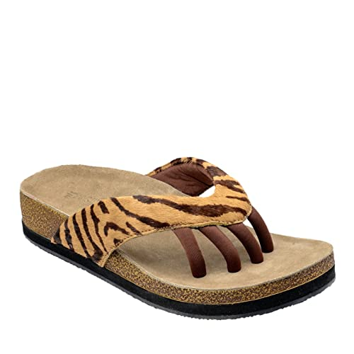 Wellrox Women's Terra Austin Wellness Casual Sandals 6 Tiger