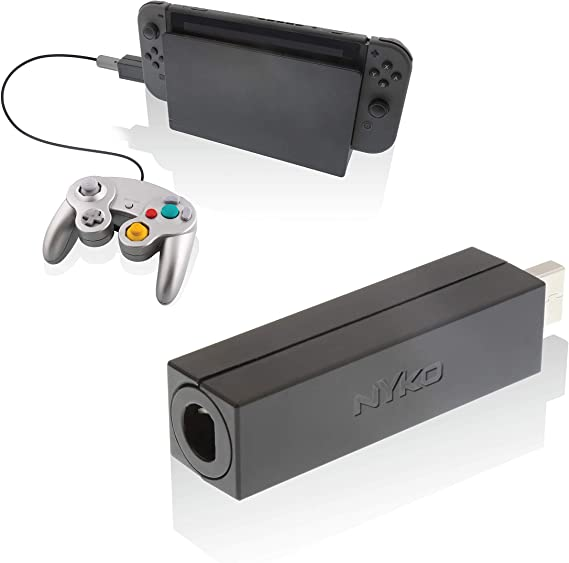 Nyko Retro-Controller-Adapter – Single Port GameCube Controller Adapter für Nintendo Switch, Limited Edition