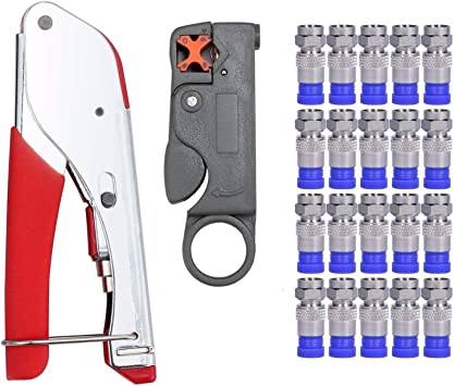 coaxial cable crimper compression toolFREE SHIPPING