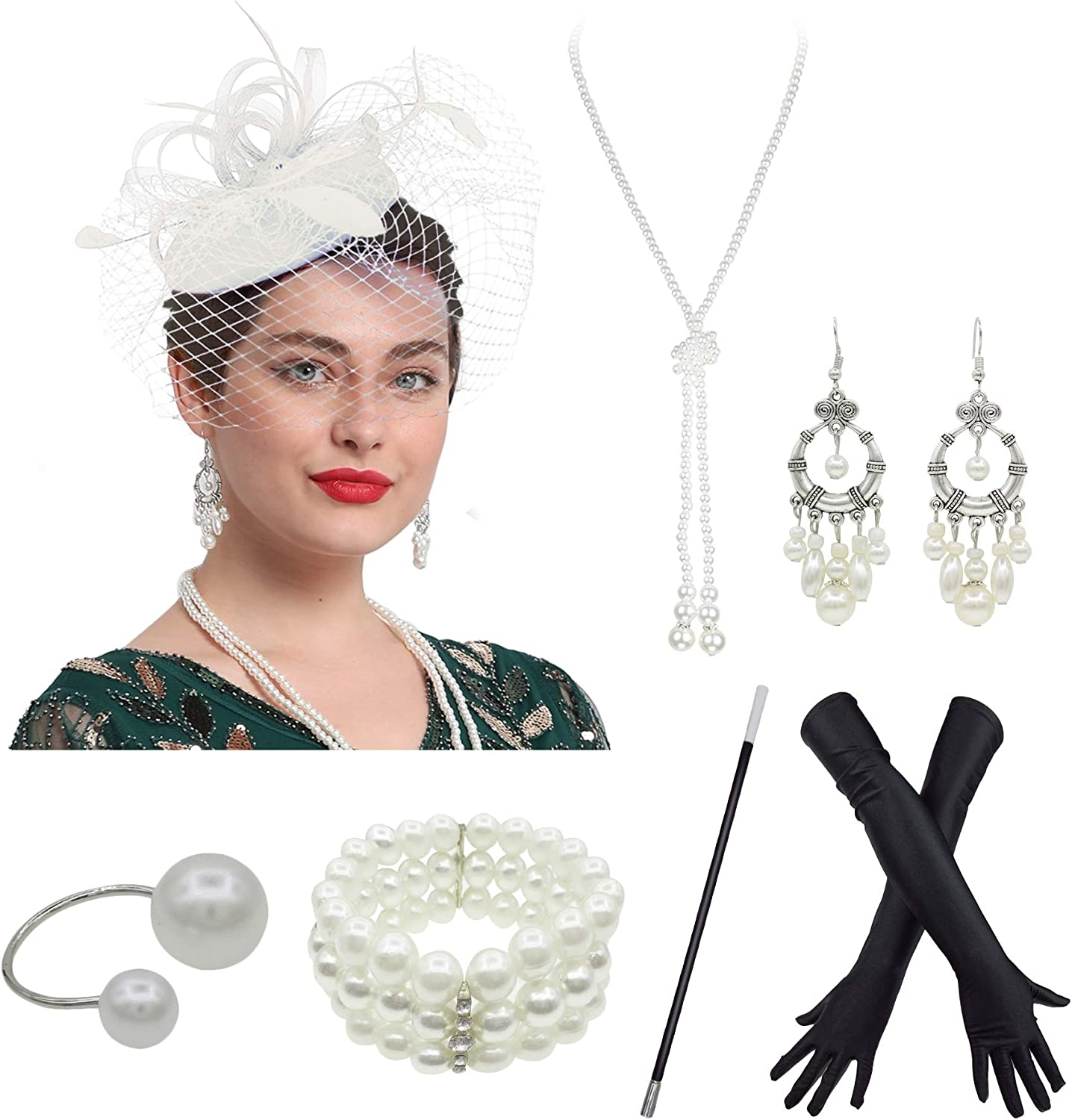 Fascinator Hat Retro Style Bird Cage Mesh Feather Wedding Hair Accessory Tea Party 20s Accessories One Size Beige At Amazon Women S Clothing Store