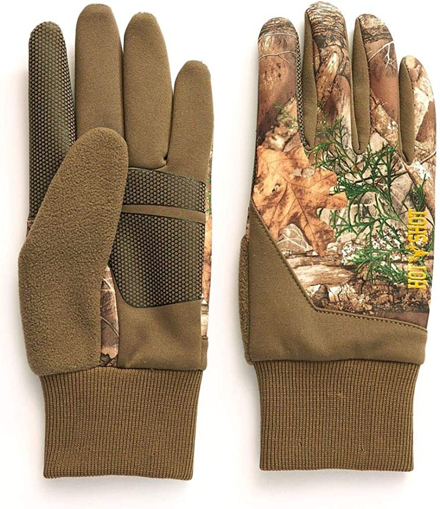Hot Shot Men's Camo Eagle Gloves – Realtree Edge Outdoor Hunting Camouflage Gear