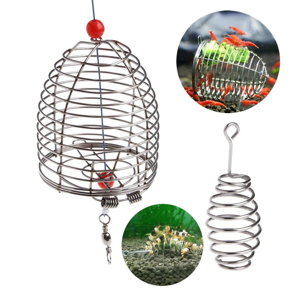 Dabixx Aquarium Shrimp Small Bait Feeder Dry Spinach Feeding Stainless Steel Cage S