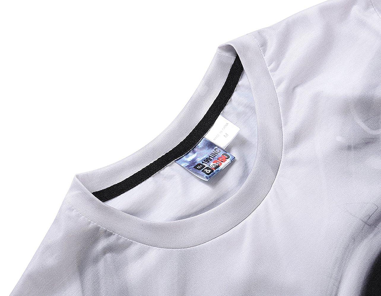 Moore Mens T-Shirt 3D Digital Skull Pile Plus-Size S-XXXL Street Short Sleeve