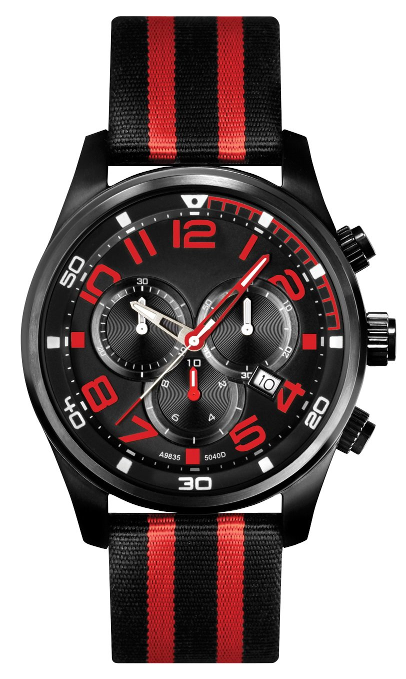 ''Mission to Mars'' Stainless Steel Chronograph Watch for Men by WATCHBUDDY