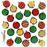 Festive 100 Piece Assorted Ball Christmas Ornament, Multi