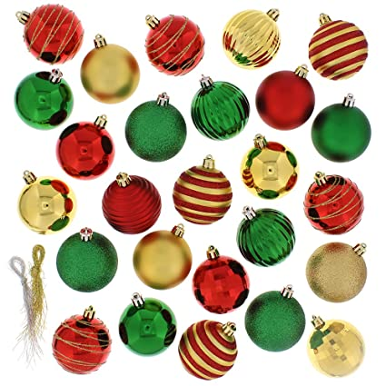 Christmas Balls.Festive 100 Piece Assorted Ball Christmas Ornament Multi