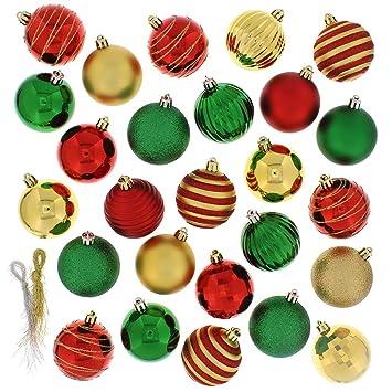 festive 100 piece assorted ball christmas ornament multi
