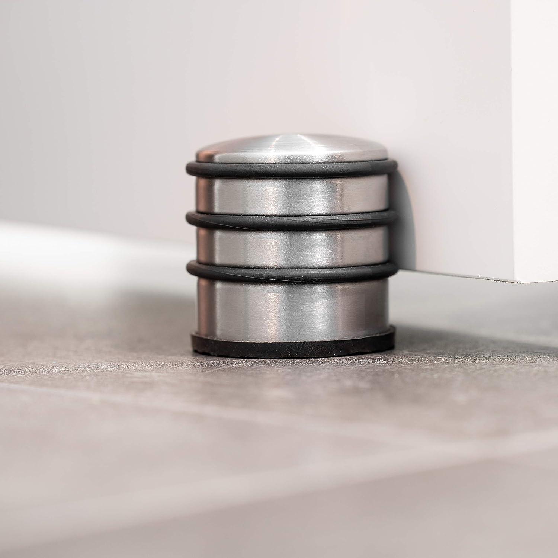 Extra hoher Door Stopper Door Stop mit Gummiring und gummiertem Boden für maximalen Halt 4er Set BOLTBACH Türstopper aus Edelstahl -