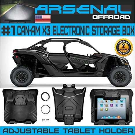 Issyzone X3 Tablet Holder for iPad Electronic Device Holder with Integrated Storage for 2017 2018 2019 2020 Can Am Maverick X3