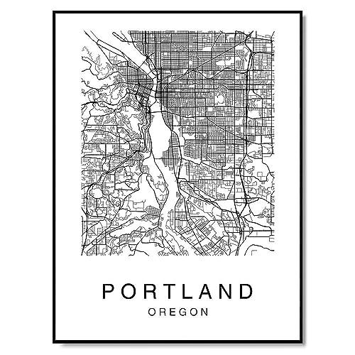North America Oregon Poster Oregon Photo Oregon Wall Art Oregon Print Black and White United States Oregon Wall Decor USA