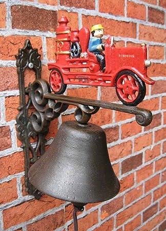 Campana Pared Maciza Hierro Fundido Campana coche de bomberos