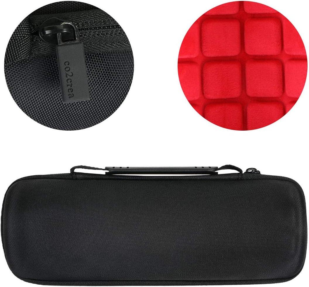 co2crea Hard Travel Case Replacement for JBL FLIP 5 Waterproof Portable Bluetooth Speaker Black Case + Inside Black