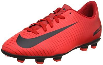 b461e330caa Amazon.com | NIKE Jr Mercurial Vortex III FG (University Red/Black ...