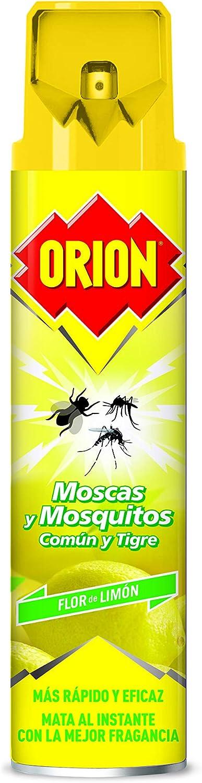 Orion - Insecticida en Aerosol contra Moscas y Mosquitos, Aroma Flor de Limón - 600 ml