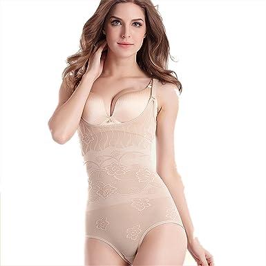 267e1dcc76 Women Girls Shapewear Bodysuit Lightweight Firm Control Body Briefer  Adjustable Full Body Shaper Easy for Bathroom Underwear for Wedding  Amazon. co.uk  ...