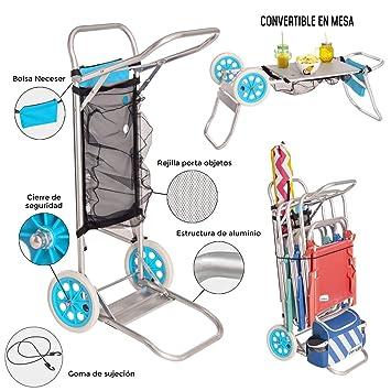 JUINSA Carro PORTASILLAS Aluminio 52X37X105 CM Convertible EN Mesa 12214: Amazon.es: Juguetes y juegos