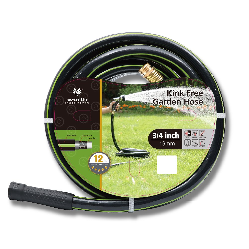 "3/4'"" 50ft. No-Kink Tested Home & Contractor Approved Garden Hose - 12 YEAR WARRANTY - EXTREMELY High Water Pressure with Solid Brass Fittings - Landscape Approved - Extremely Durable HOSE"