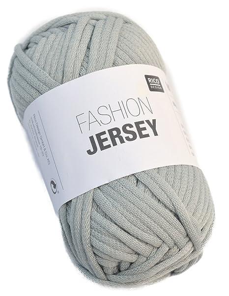 Rico Fashion Jersey Fb. 006 - rauchblau, jersey visillo hilo ...