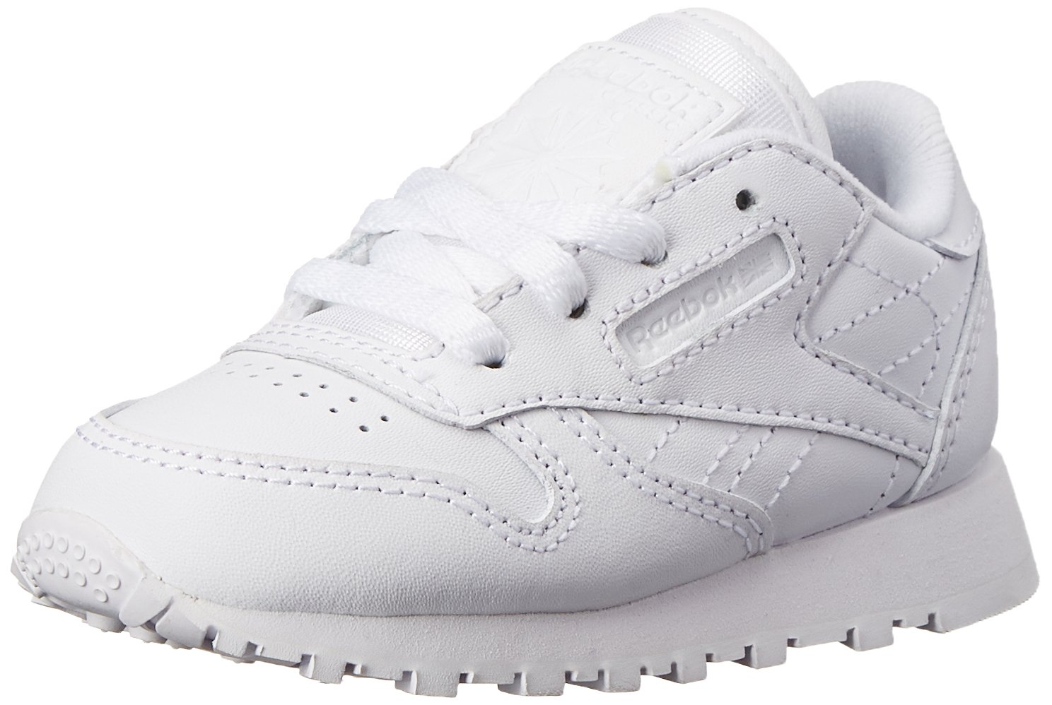 Reebok Classic Leather Shoe,White/White/White,7.5 M US Toddler
