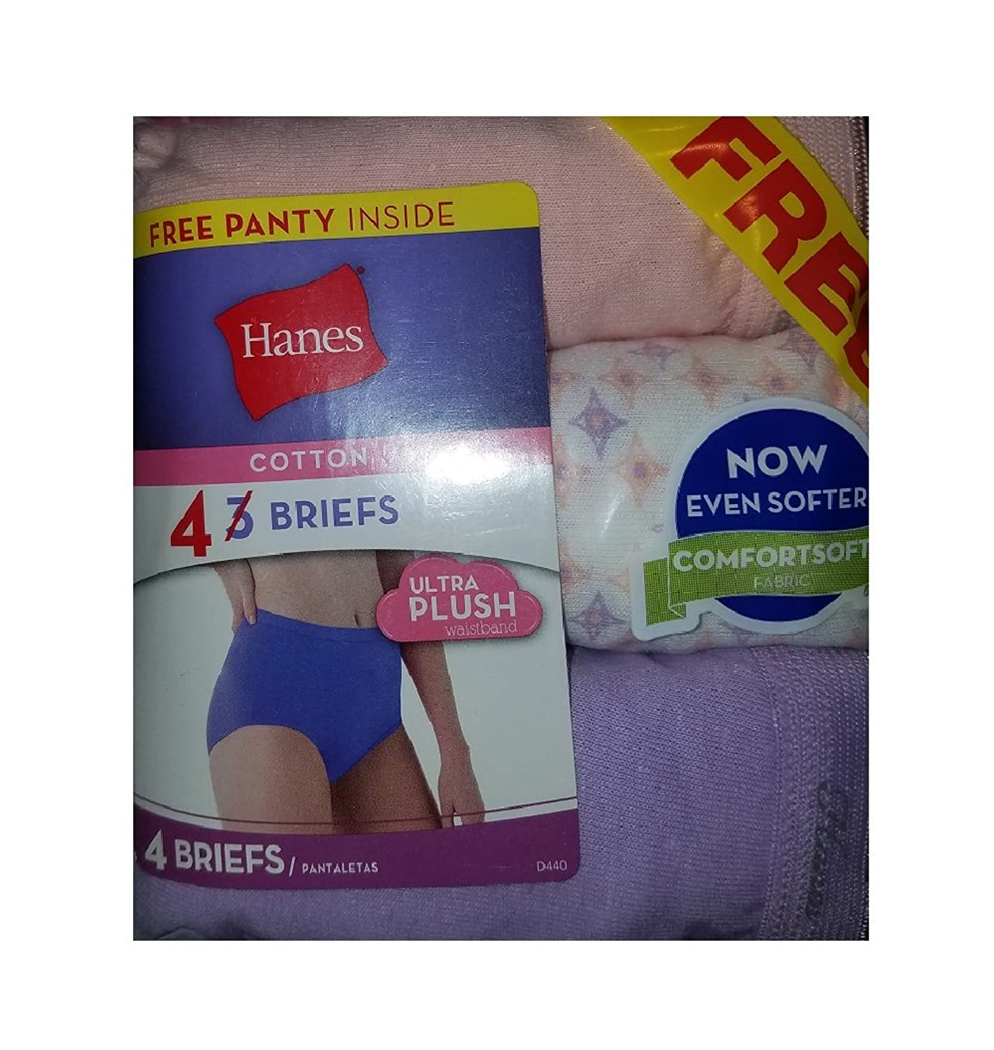 Hanes 100% Cotton Briefs 4 Pack (Size 6)