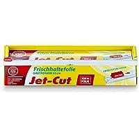 Jet-Cut Folia spożywcza do cięcia, gastronomia 45 cm x 300 m – bardzo szeroka, przezroczysta, PCW, 1 sztuka