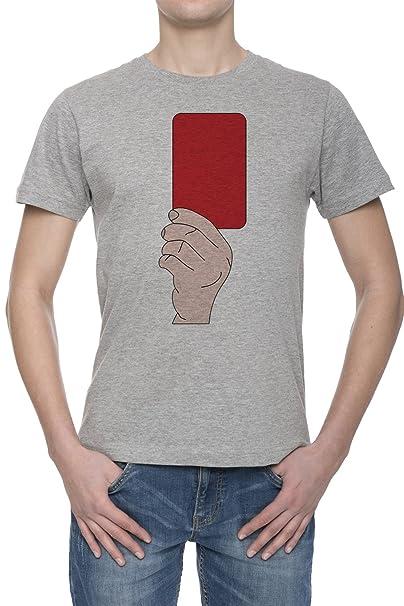 Fútbol Tarjeta Roja Camiseta Para Hombre Gris Todos Los ...