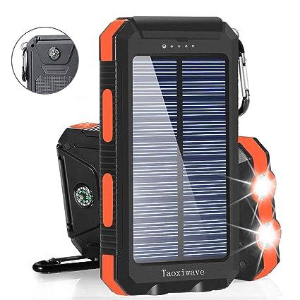 Amazon.com: Solar banco de la energía 20000 mAh, cargador ...