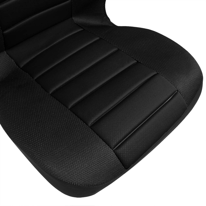 con Cubierta del Volante y Almohadilla para cintur/ón Deportivo Woltu AS7267 Funda Protectora Universal para Coche Negro