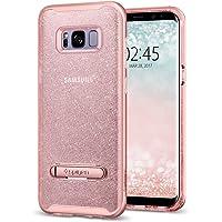 Capa Protetora Crystal Hybrid Glitter Galaxy S8 Plus Spigen, Spigen, Capa Dupla Proteção Anti-Impacto, Rose Quartz