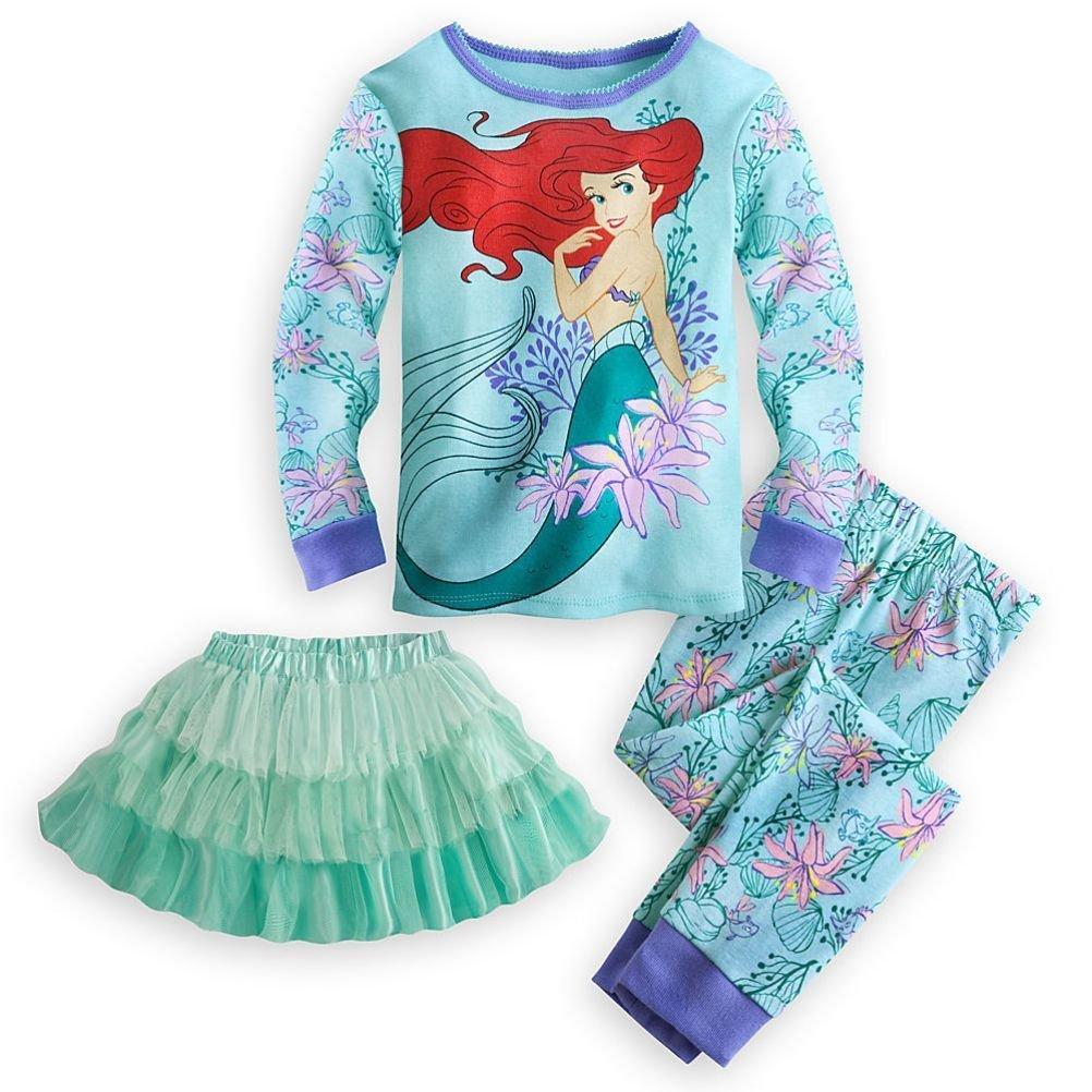 0516dbdb332e Amazon.com  Disney Store Ariel Little Girl 3 PC Deluxe Long Sleeve ...