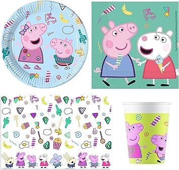 Budget Gifts Pack Fiesta Peppa Pig para 16 Invitados: Amazon.es ...