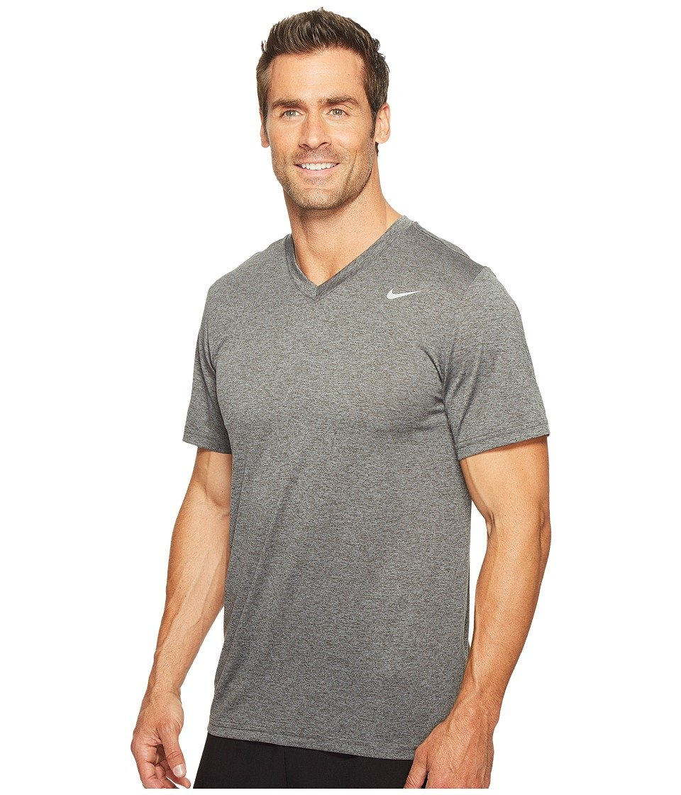 803893be Amazon.com: Nike Mens Legend V-Neck Training T-Shirt Charcoal Heather/Matte  Silver 624314-071 Size Large: Sports & Outdoors