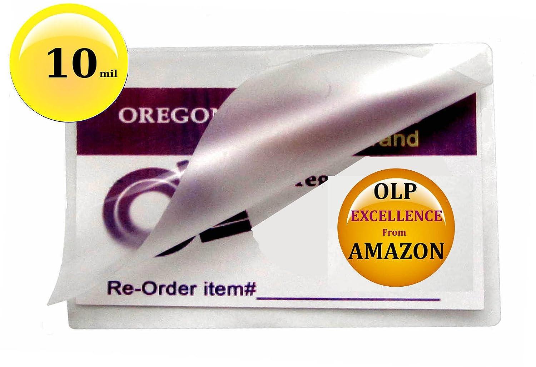 Amazon.com : Qty 500 10 Mil Business Card Laminator Pouches 2-1/4 x ...
