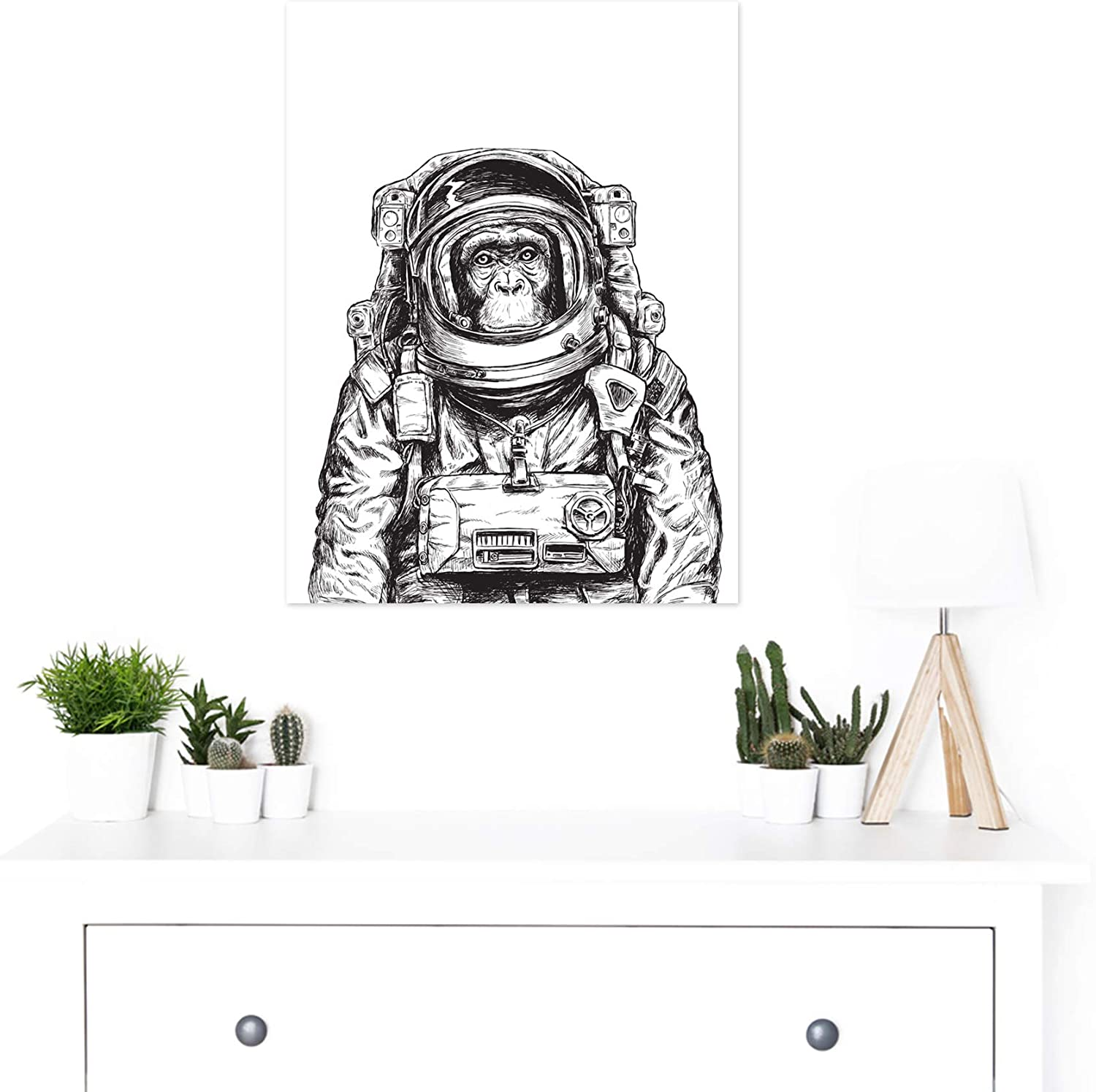 Cosmonaut  Giant  Section Wall Art Poster 260gsm