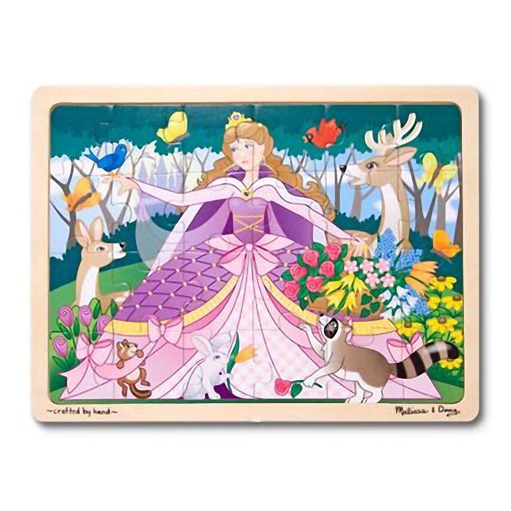 FREE Melissa /& Doug Scratch Art Mini-Pad Bundle 18968 Woodland Princess 24-Piece Wooden Jigsaw Puzzle