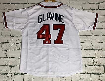 87a2db1cd Tom Glavine Signed Autographed Atlanta Braves Pro Style Baseball Jersey -  JSA COA