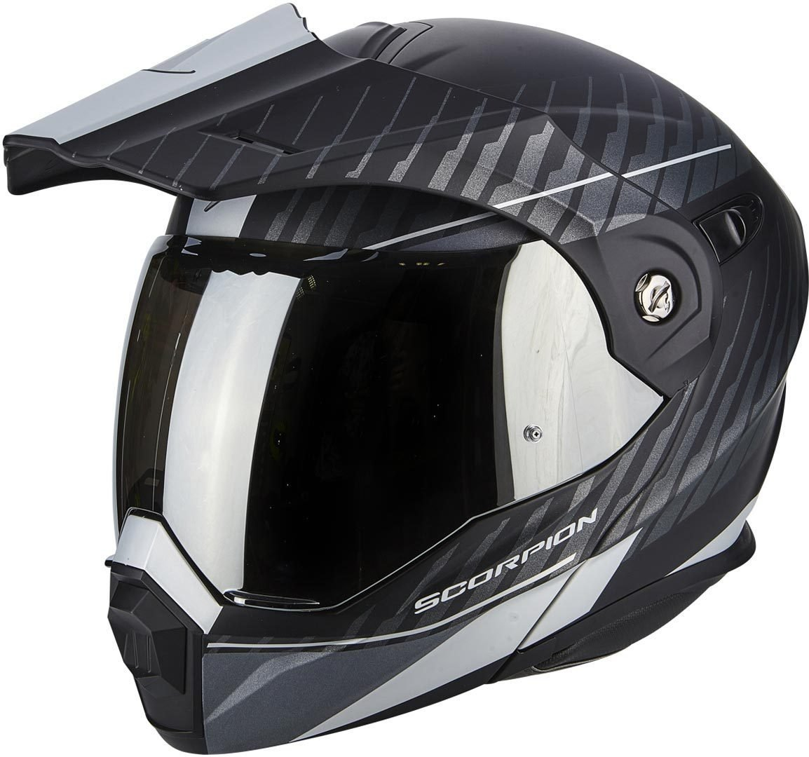 62//63 Schwarz Matt//Orange Scorpion ADX-1 Dual Enduro Klapphelm XXL