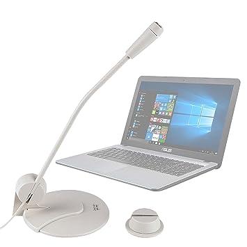 DURAGADGET Micrófono De Sobremesa para Ordenador portátil ASUS D540SA-XX620T | F540YA-XX078T | X540LA-XX265T | F541UA-XO242T | D540SA-XX620T Blanco: ...