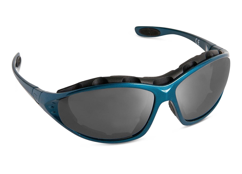 SPEQ Multisportbrille, Ski Brille, Multi Sportbrille inkl. 2 Wechselscheiben, stabilem Hardcase und zusätslicher Microfasertasche, 100% UV -Schutz, Türkis